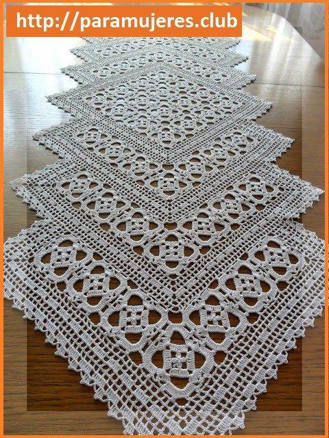 camino de mesa a crochet un camino de mesa a crochet es