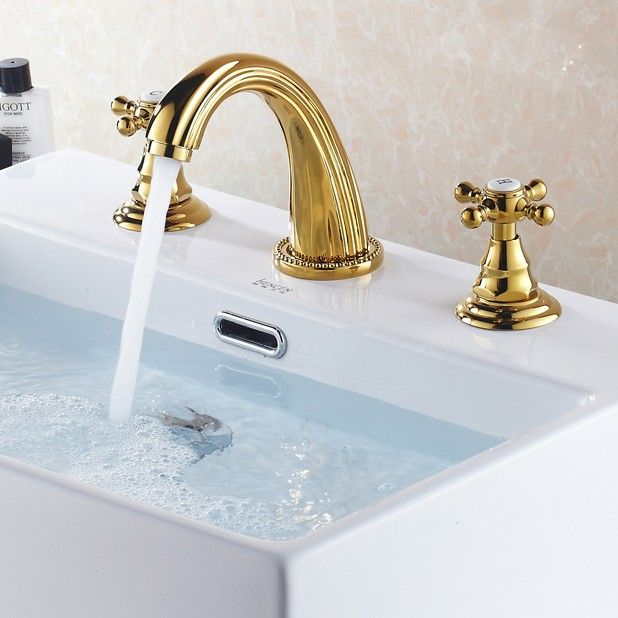 Suex Double Cross Handle Widespread Bath Sink Faucet Bathroom Mixer Taps Bathroom Sink Taps Bath Sink Faucet