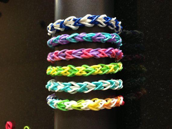 Rubber Band Bracelet Custom Double Diamond