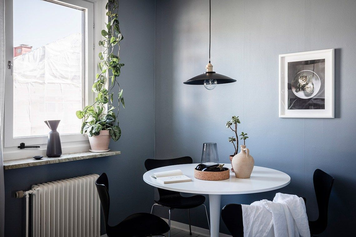 Home With Petrol Blue Walls Blue Walls Dining Room Design