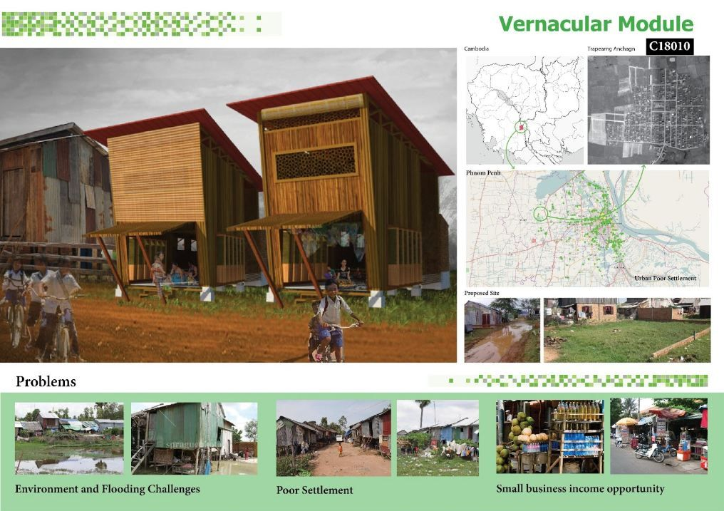 Vernacular Module Cambodian Sustainable Housing Competition Entry | ARCH-student.com