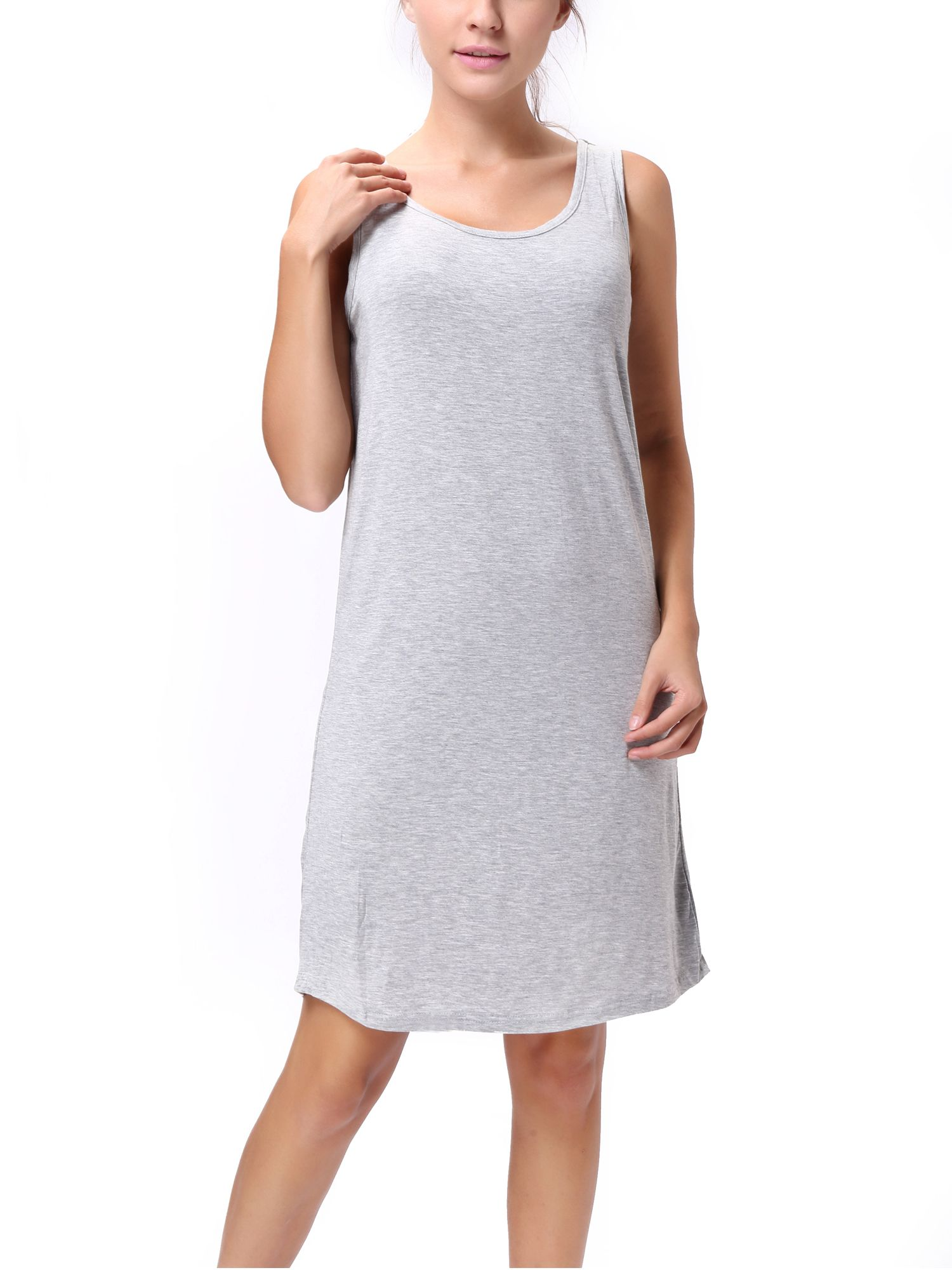 Sayfut Sayfut Women S Beach Casual Tank Tops Dress Modal Cotton Knee Length Sundresses Stretchy Slim Fit Vest Dresses Black Gray Walmart Com Sleeveless Long Dress Casual Tank Tops Spring Outfits Casual [ 2000 x 1500 Pixel ]