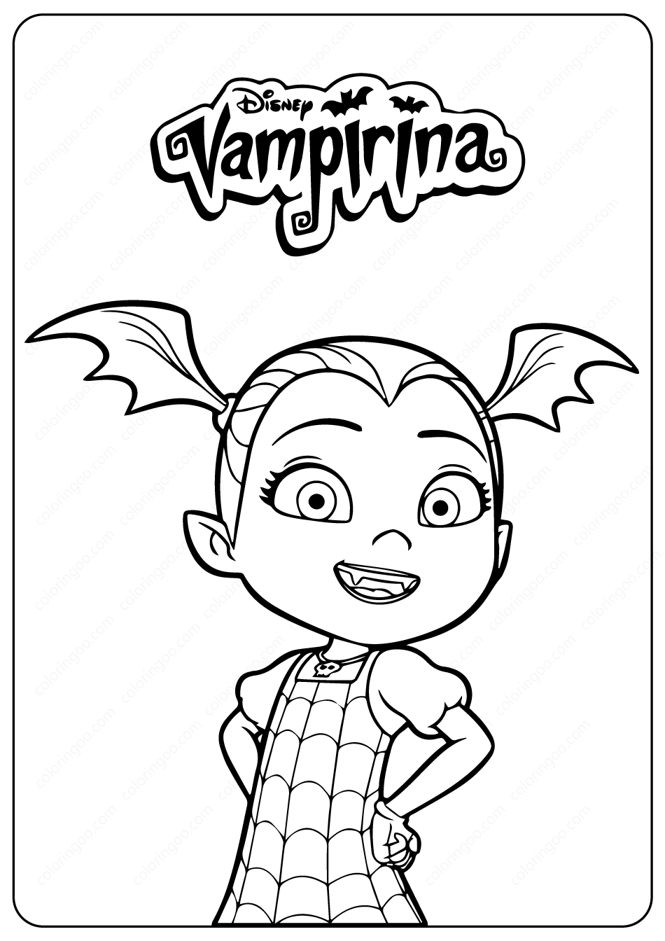 Vampirina PDF Coloring Pages  Coloring pages, Ariel coloring