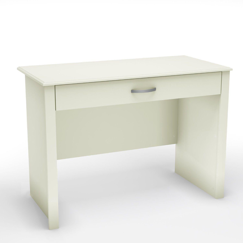 Contemporary White Laptop Computer Desk