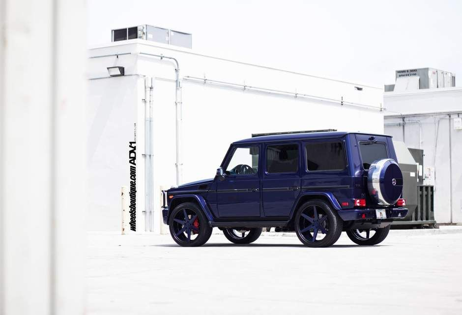 Adv1 wheels blue mercedes g63 g wagon rims deep h adv 1 for Mercedes benz g wagon g63