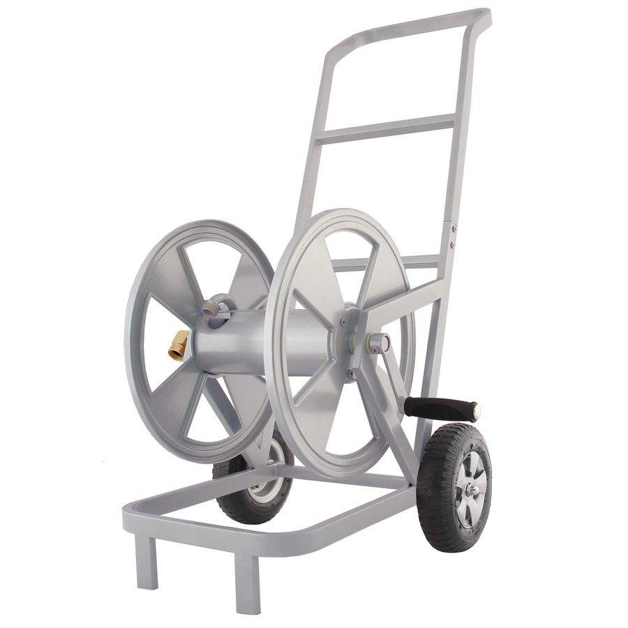 Garden Treasures Steel 200 Ft Cart Hose Reel 201 In 2020 Hose