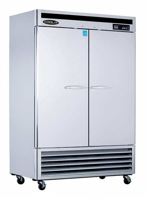 Kool It Kbsr 2 Two Door Commercial Refrigerator 54 Steel Double Doors Double Door Refrigerator Solid Doors