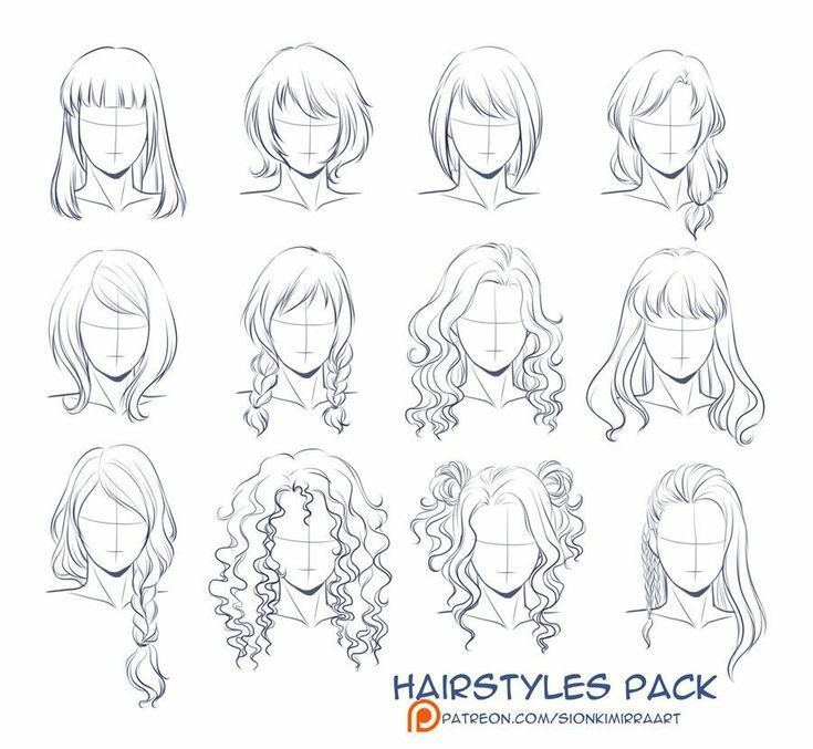 Photo of Drawing hairstyles for your characters – #