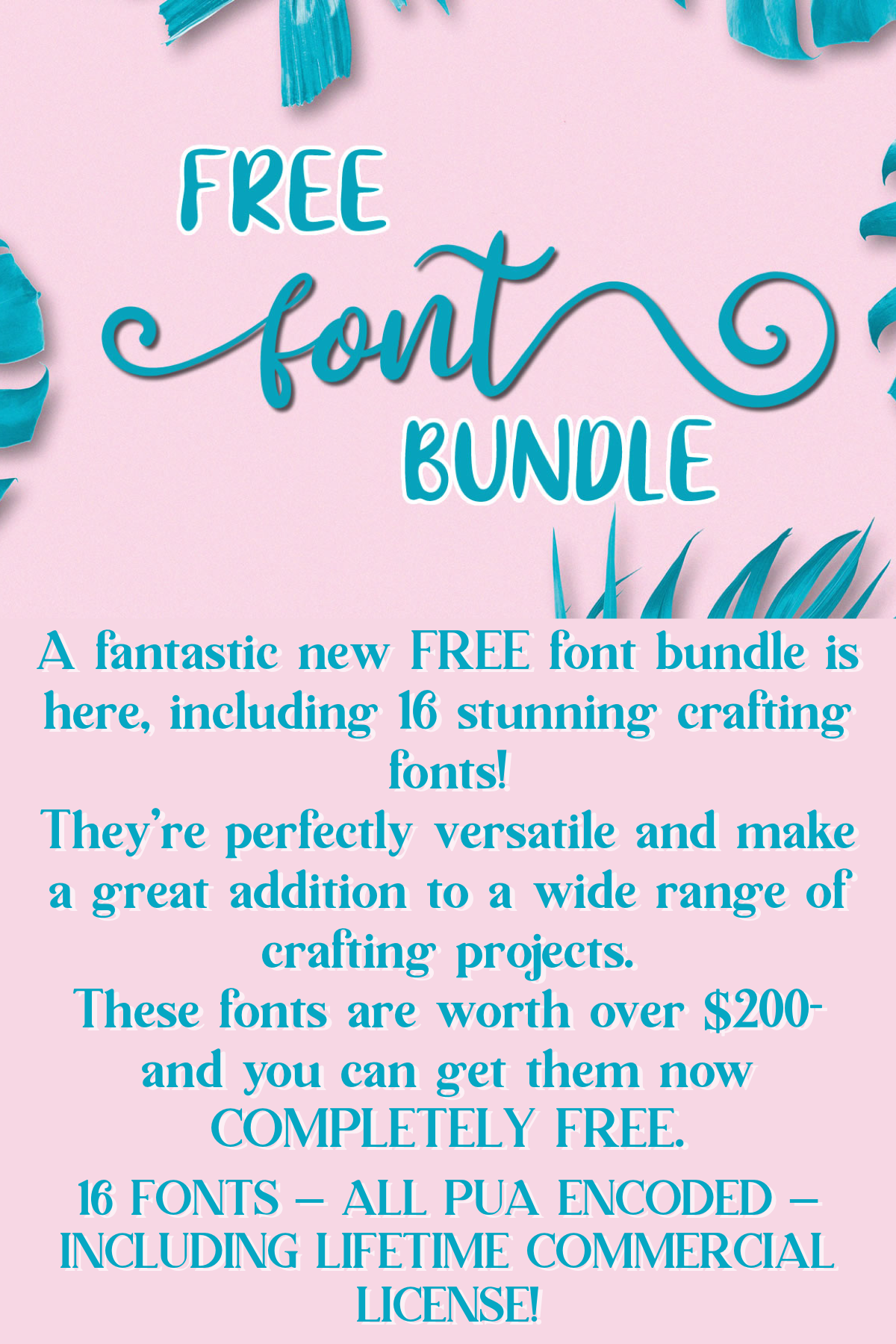 Download Free Font Bundle (Bundle | Font bundles, Free font, Clip ...