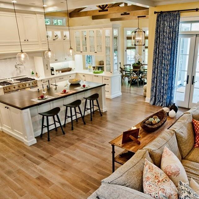 Open Concept French Country Kitchen Home Design Ideas: Most-Liked Instagram Photos Of 2015