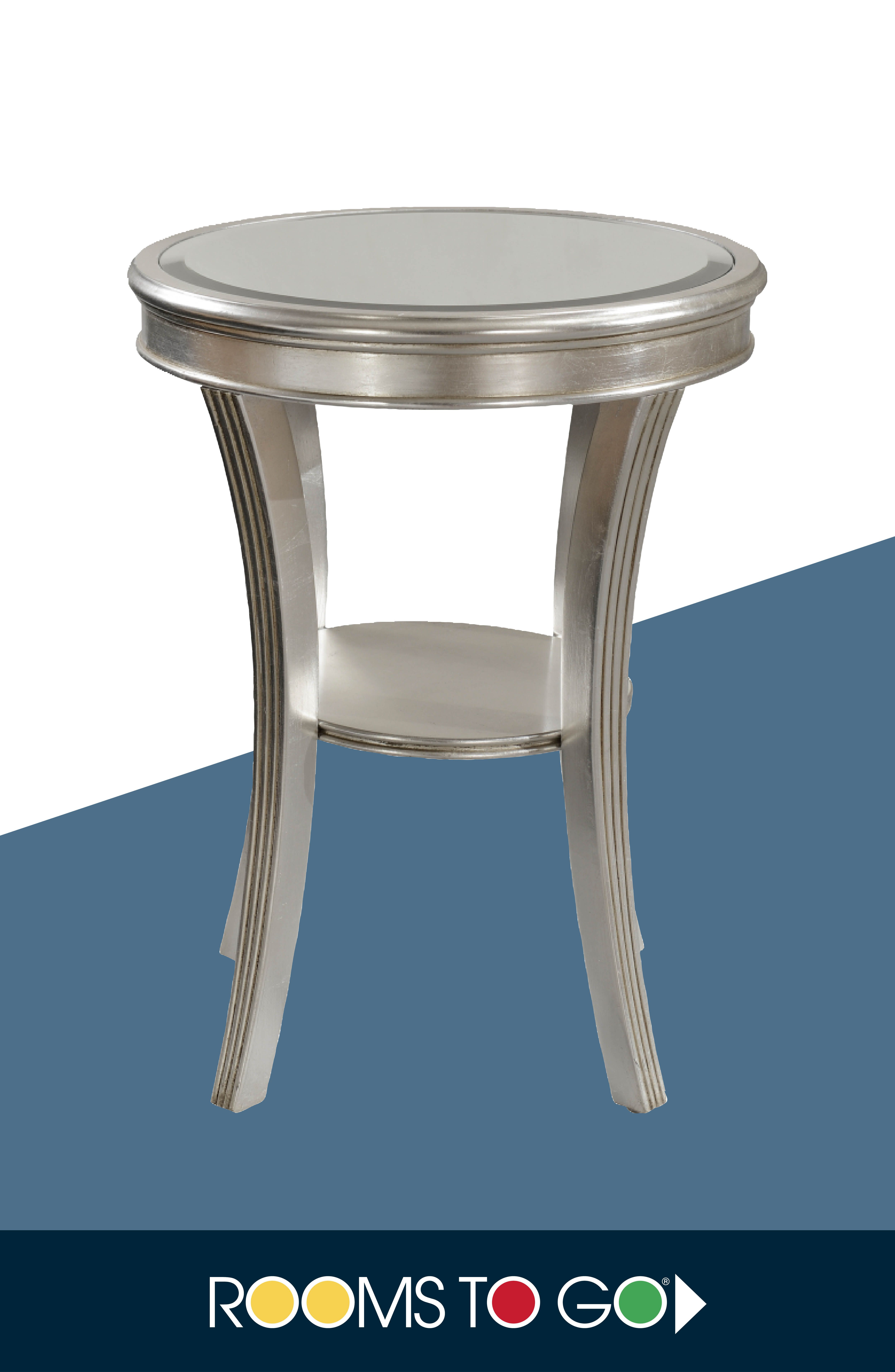 Amazing With Towering Splayed Legs And A Silver Leaf Finish, This Small Accent Table  Makes A