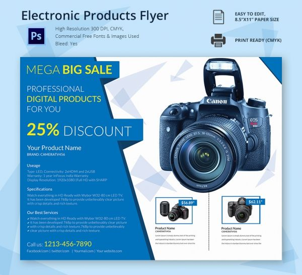 Electronic Products Flyer Corporate Templates Pinterest Flyer