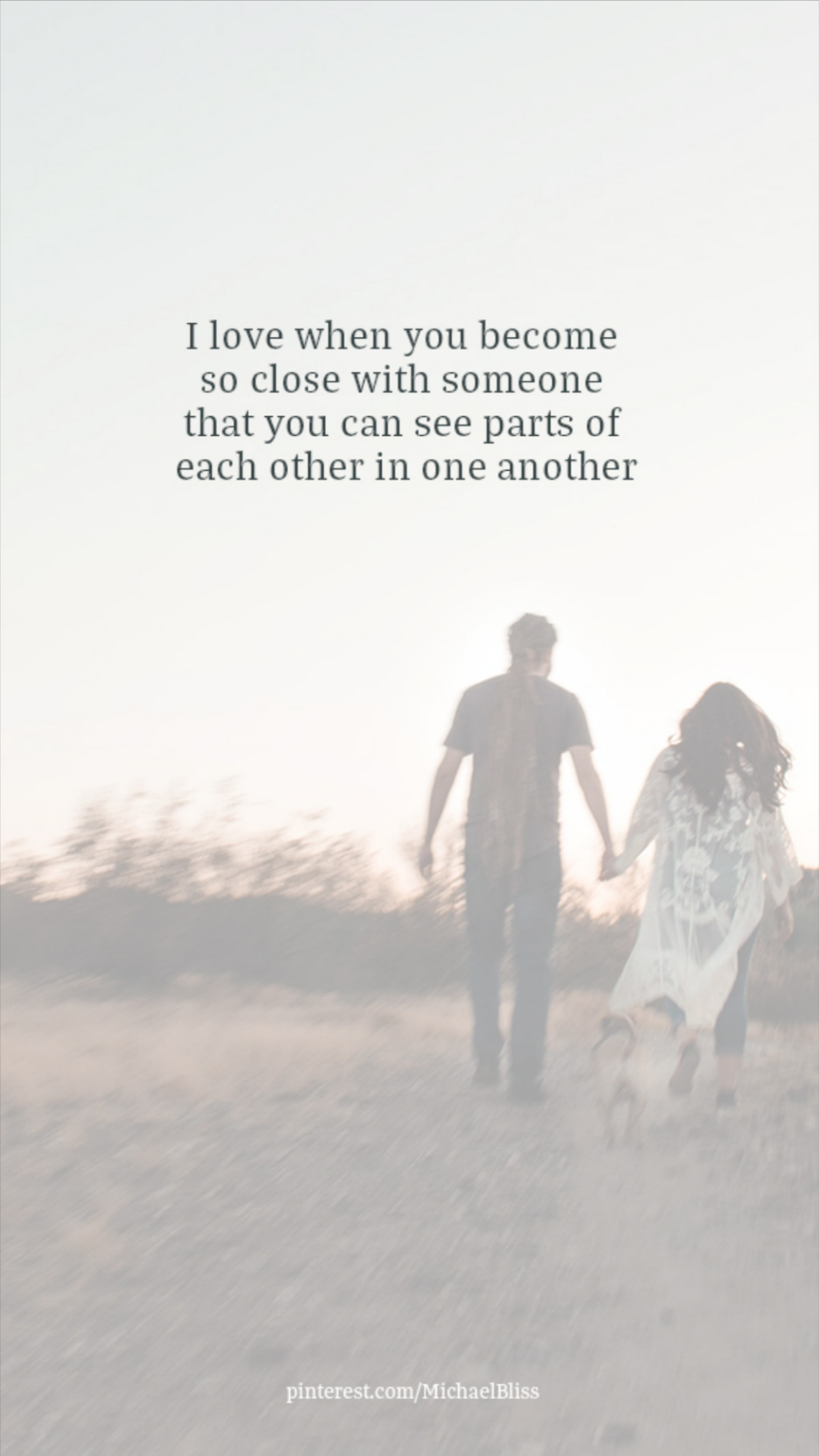 I love when you become so close with someone..