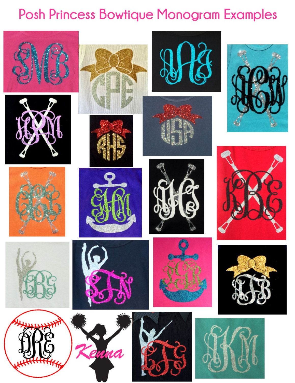 Confetti Glittervinyl Monogrammed Tee Wordy Birdy Designs - Glitter custom vinyl decals for shirts