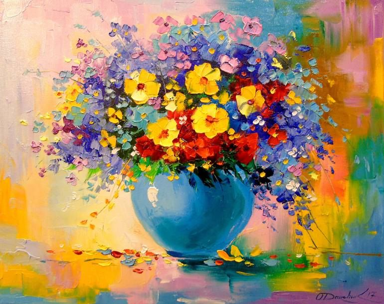 Saatchi Art Artist Olha Darchuk Painting A Bouquet Of Meadow