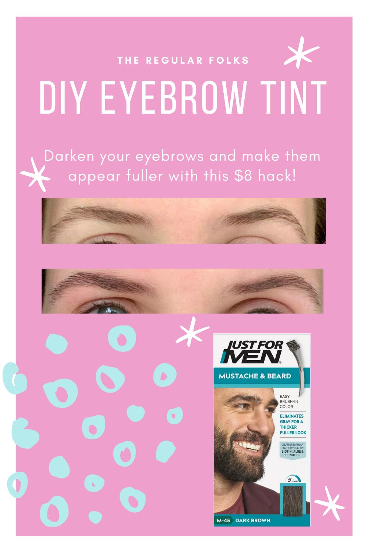 Diy Eyebrow Tinting With Beard Dye The Regular Folks In 2020 Beard Dye Eyebrow Tinting Dye Eyebrows
