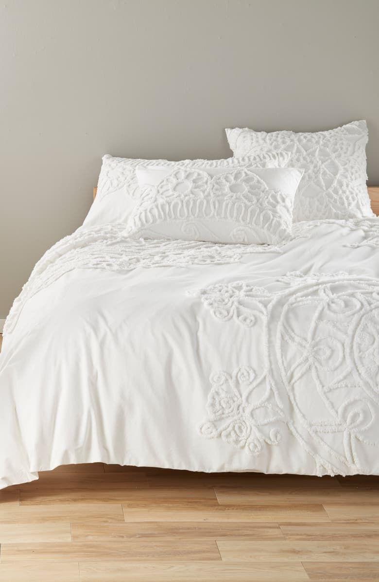 Nordstrom At Home Tufted Duvet Cover Nordstrom White Duvet Covers Duvet Covers Bed Linens Luxury White full size duvet cover