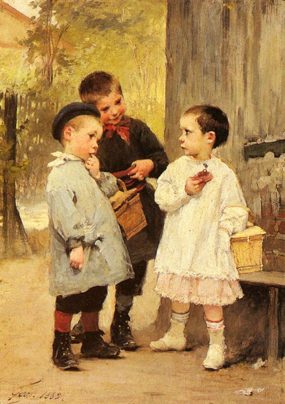 Figurative, Figurative Painter, Classical, French Artist, French Painter, Paintings, Historical paintings, childhood paintings,