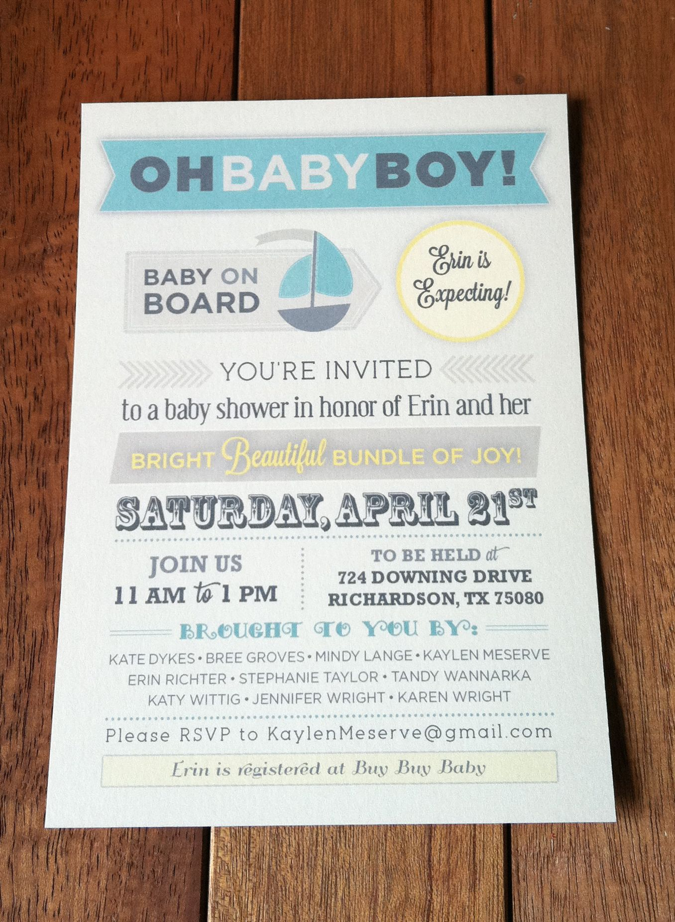 Cute vintage typography baby shower invitation design by blueprint cute vintage typography baby shower invitation design by blueprint paper malvernweather Images