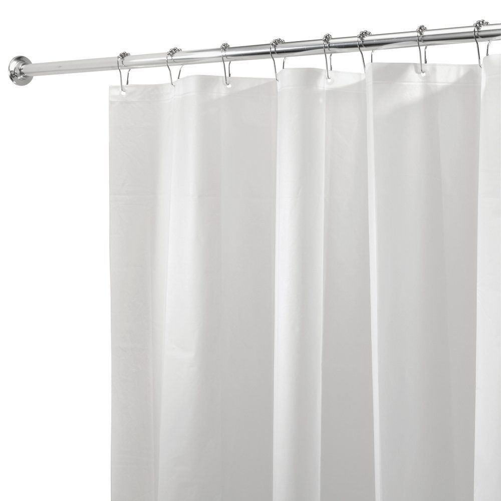 Amazonsmile Inter Design Peva 3g Shower Curtain Liner Pack Of 2 Mold Mildew Resistant Cool Shower Curtains Solid Color Shower Curtain Shower Curtain Rods