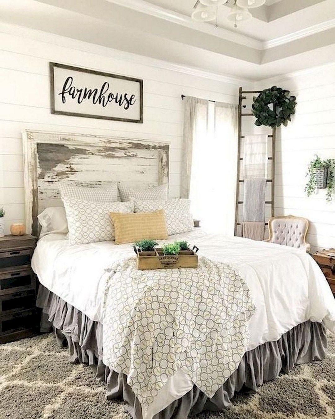 33 Beautiful Farmhouse Bedroom Design Ideas Match For Any ...