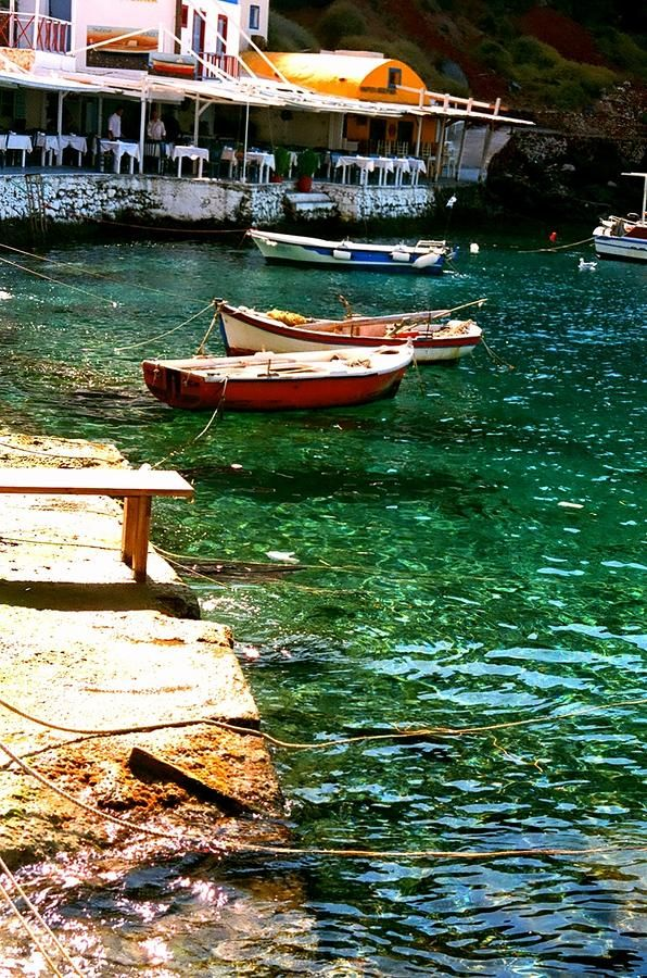 Down at Ammoudi, Oia Santorini