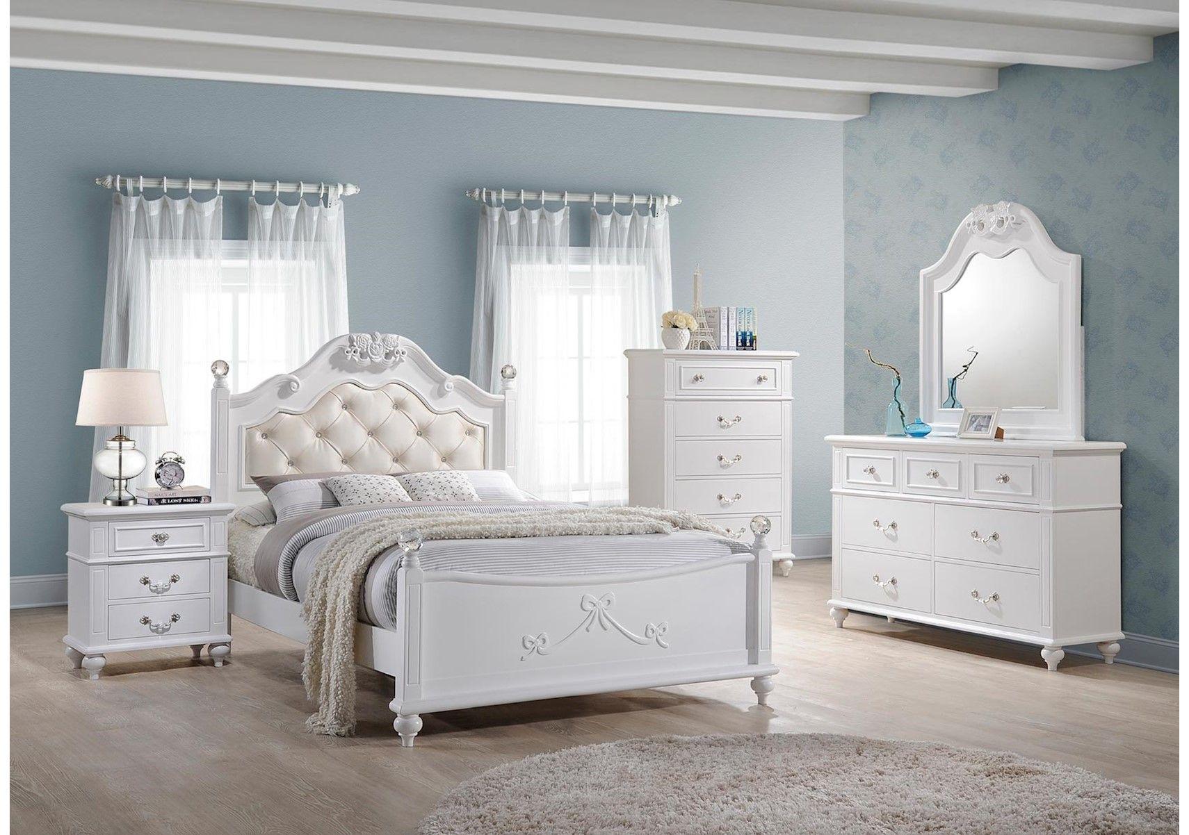 Lacks Alana 4 Pc Kids Full Bedroom Set Twin Bedroom Sets Girls