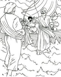 christian coloring pages Matthew 14:22-36 - Google Search | Cave ...