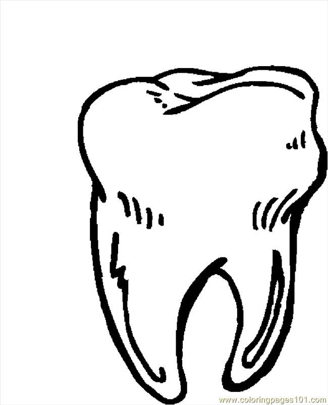 Tooth 11 coloring page Free Printable Coloring Pages Liv to