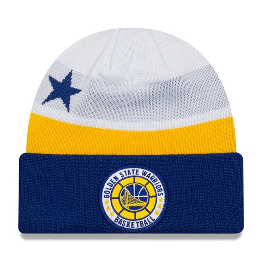 2525c32aea98f3 Men s Golden State Warriors New Era White 2018 Tip Off Series Cuffed Knit  Hat