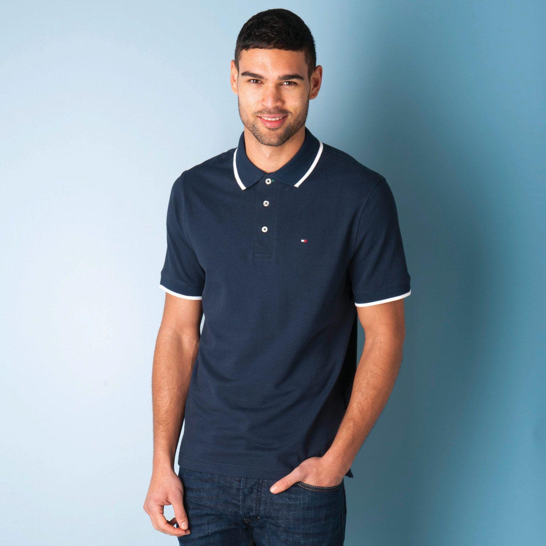 Mens Polo Shirt Navy Mens Pique Polo Shirt Get The Label
