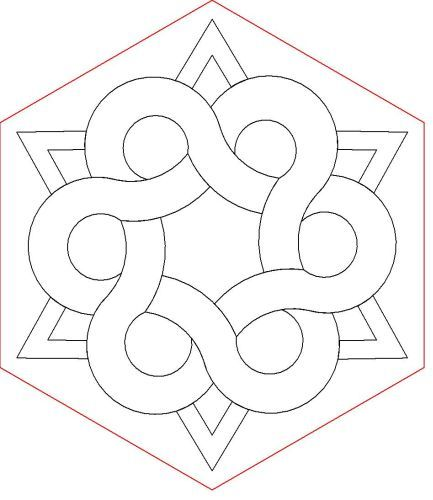 Celtic Hexagon | quilting ideas | Pinterest