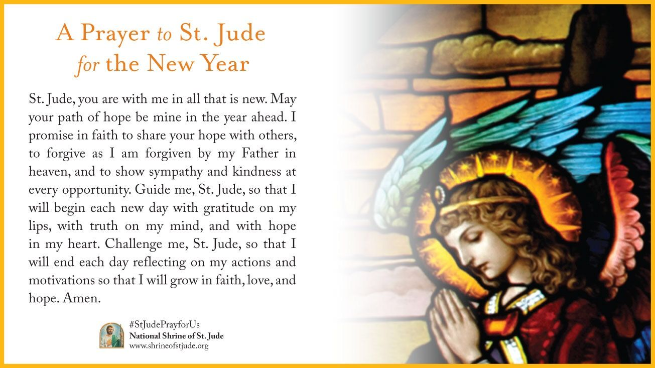 Send a Prayer to St. Jude for the New Year ecard. | St. Jude eCards ...