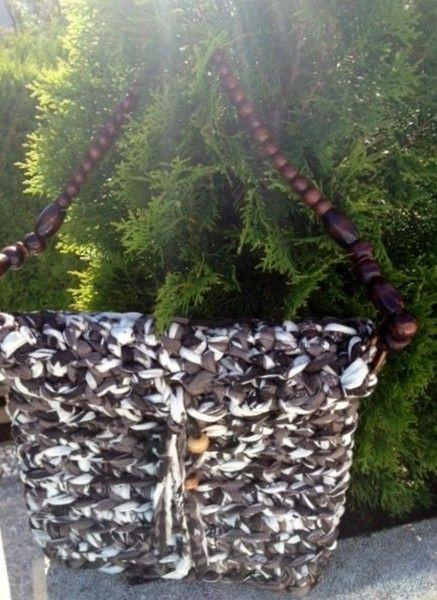 Gehäkelte Handtasche von Made by Wollmaus22 auf DaWanda.com