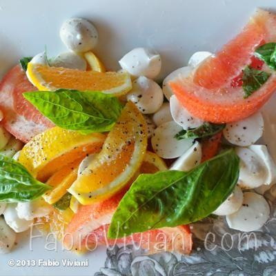 Orange and Grapefruit Caprese; full recipe on fabioviviani.com/recipeasy #recipeoftheday #recipe  #Halloween