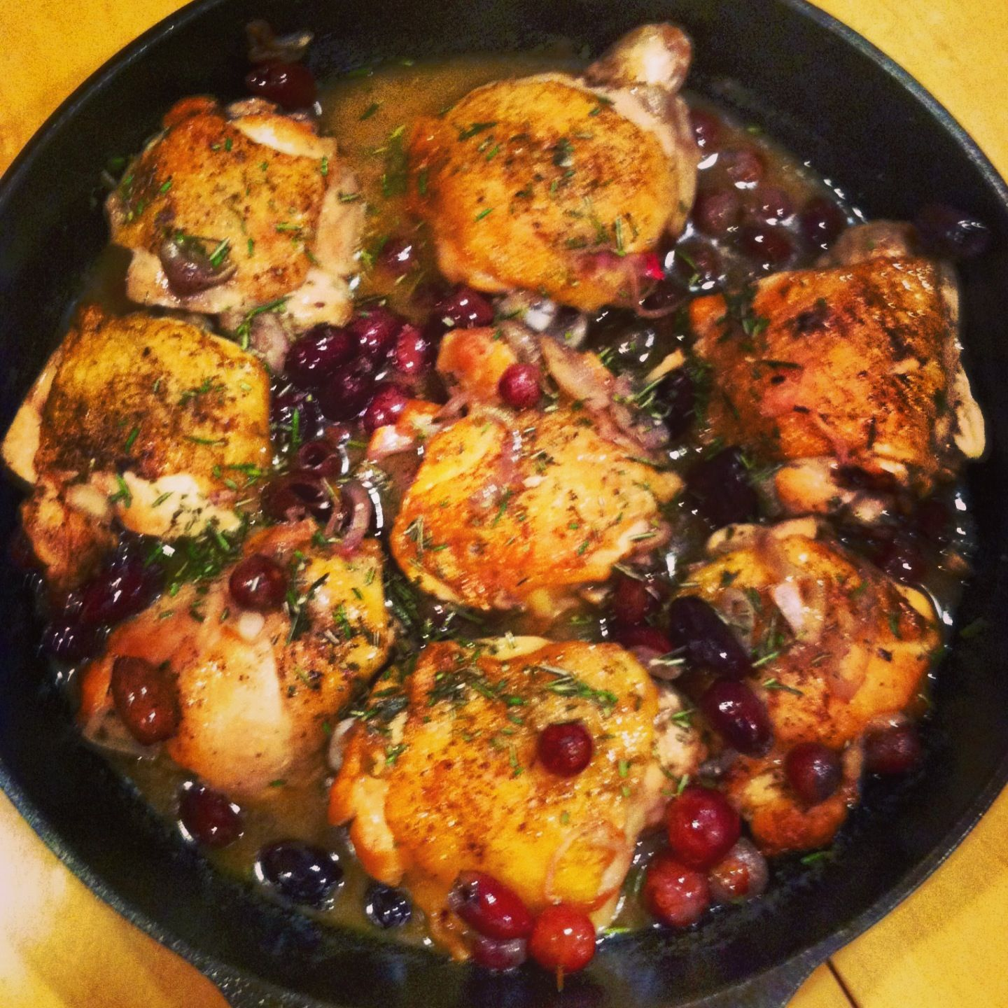 Harvest Roasted Chicken with Grapes, Olives, and Rosemary from The ...