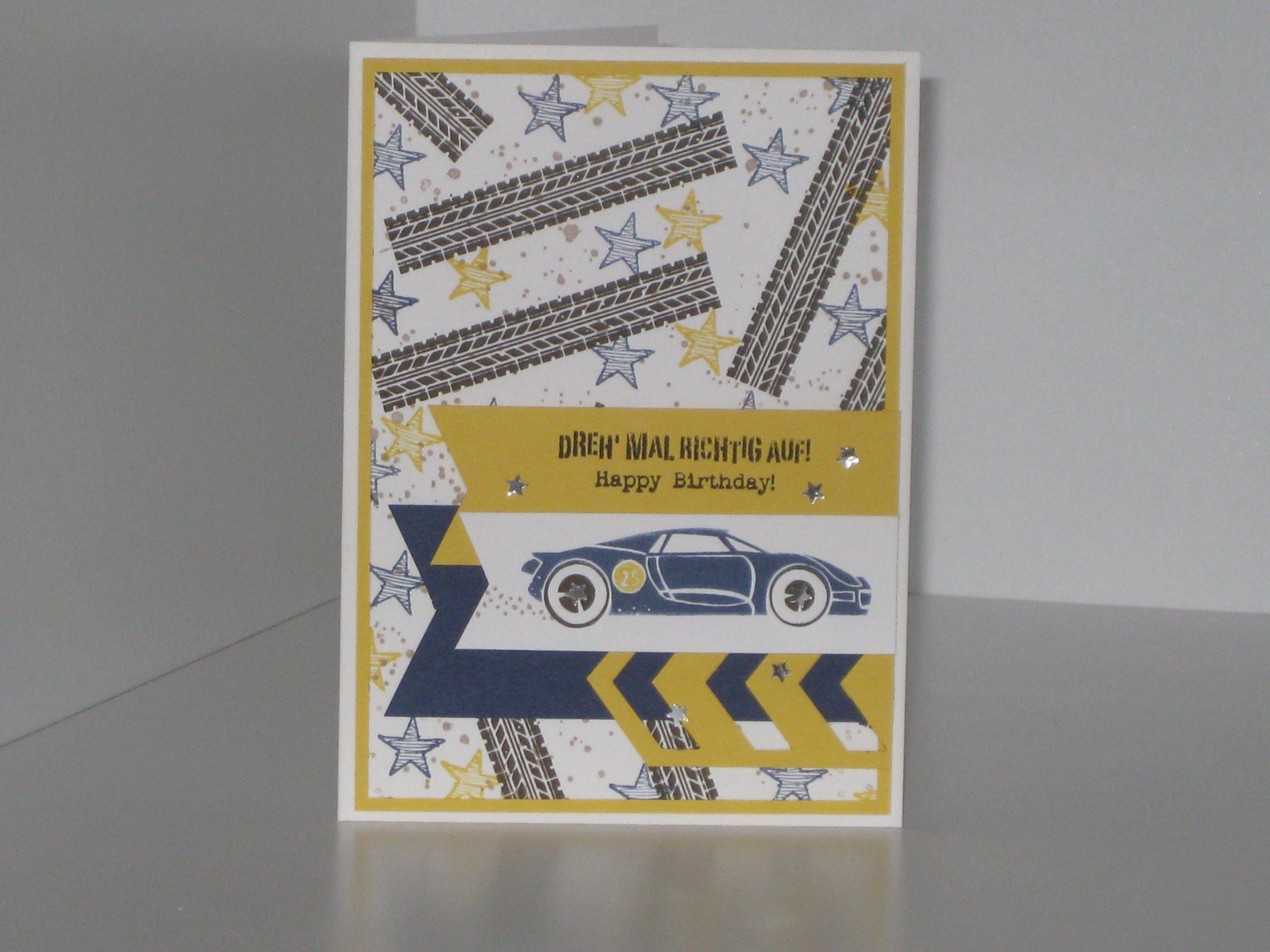 Mannerkarte Geburtstag Auto Stampin Up Pinterest Autos Und
