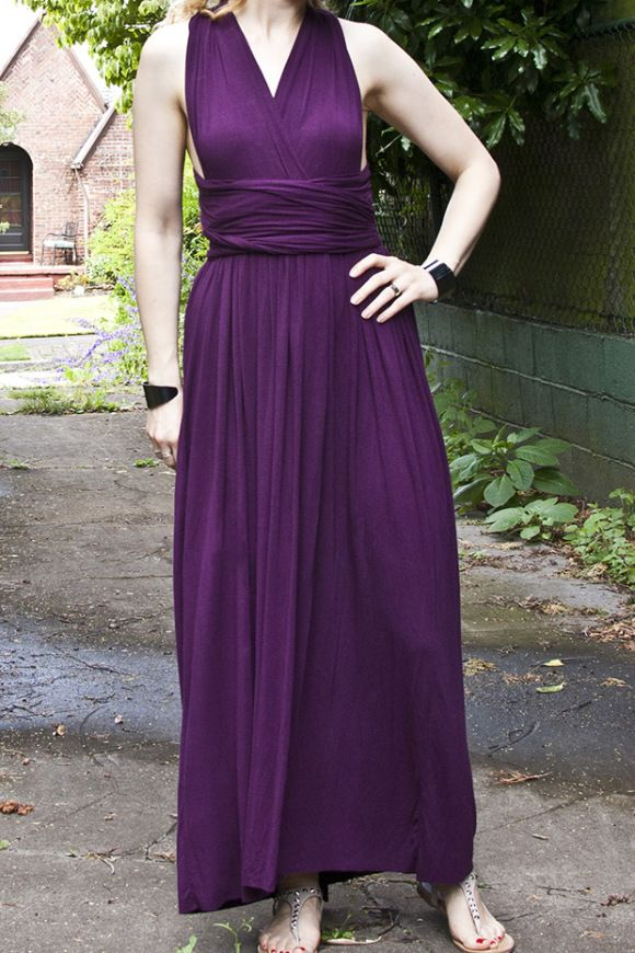 DIY Infinity Maxi Dress Details | Transient Expression | Sewing ...