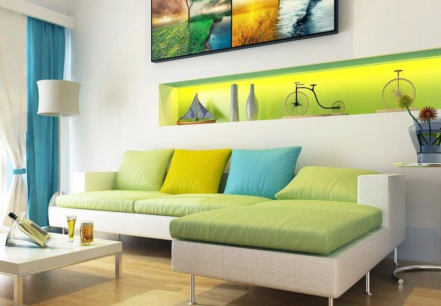 White Green Aqua Blue Living Room Design With Wooden Floor And Beauteous Wooden Floor Living Room Designs Inspiration Design