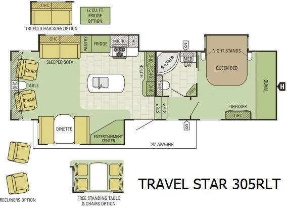 New 2017 Starcraft Travel Star 305RLT Fifth Wheel at ET