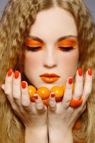 dark orange makeup art
