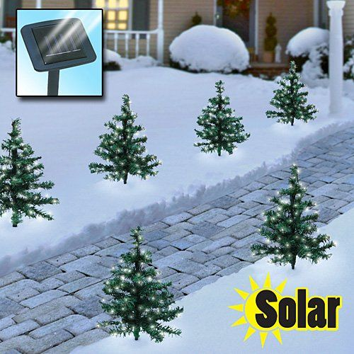 Santas Tools And Toys Workshop Sports 2 Solar Christmas Path Trees Click Through Solar Powered Christmas Lights Outdoor Christmas Decorations Holiday Lights