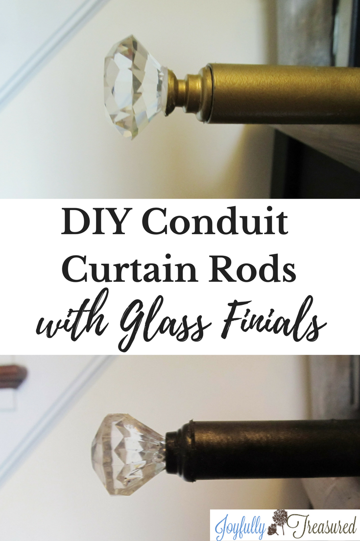 Create Diy Conduit Curtain Rods With Glass Finials In 2020 Do It