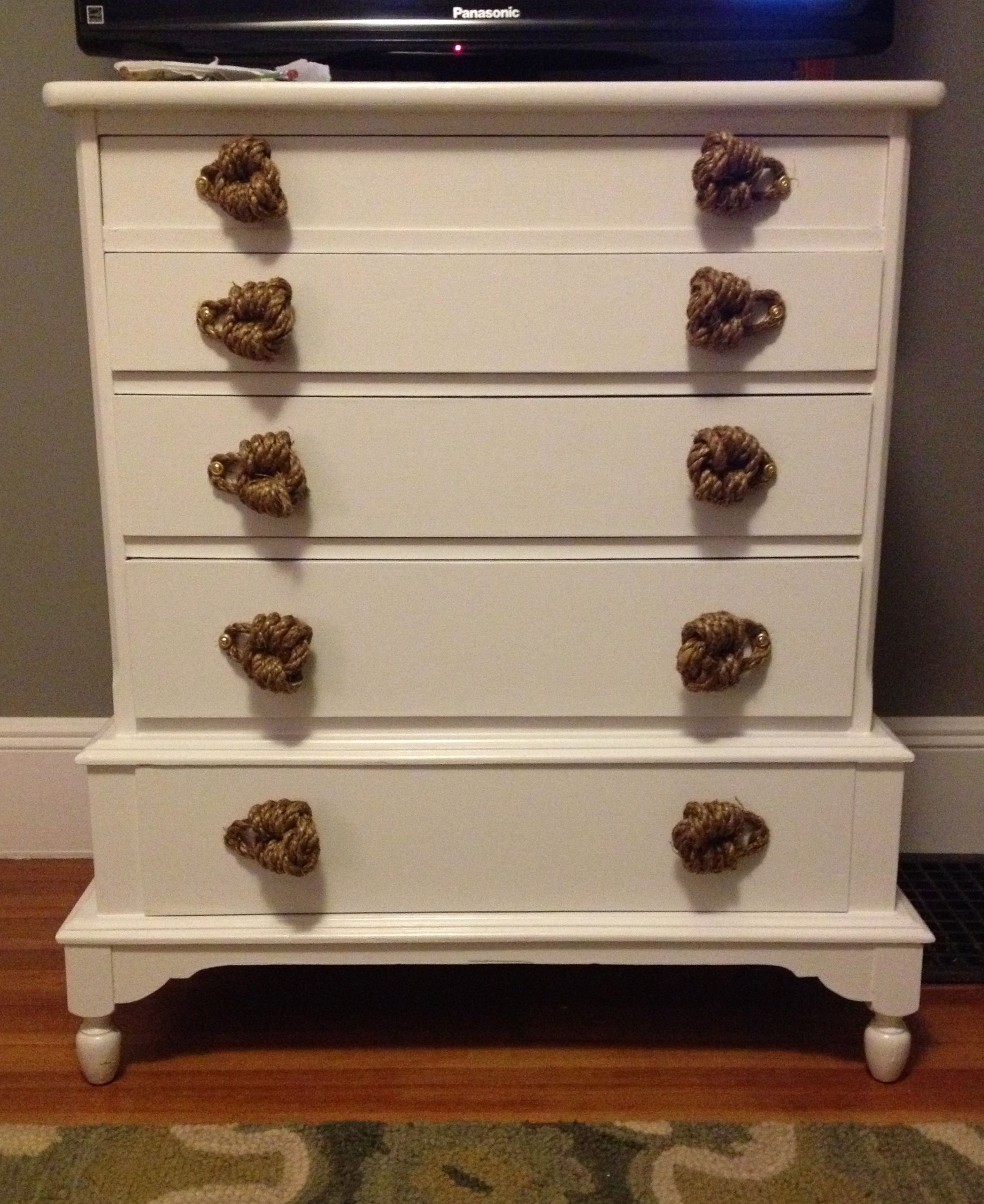 Diy Drawer Pulls For A Repurpose Chest Of Drawers With