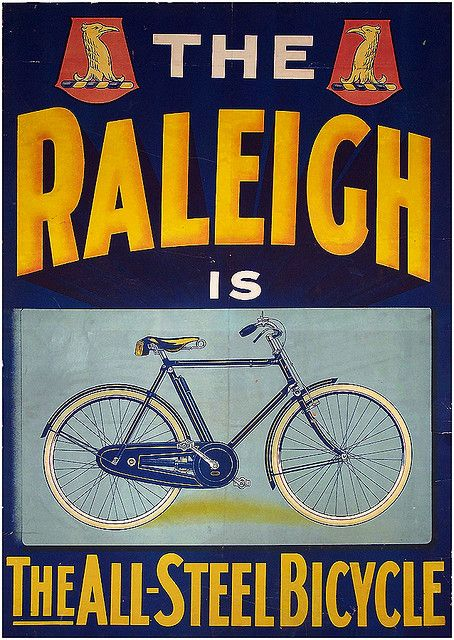 1954 Raleigh Bicycles Vintage Look Reproduction Metal Sign 8 x 12 made USA