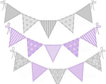Purple Elephant Baby Shower Clip Art, Purple And Grey ...