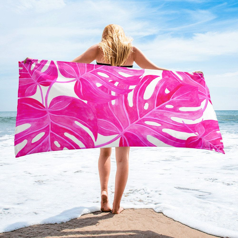 Palm Leaves Summertime Sunshine Pool Towel Beach Towel Palm