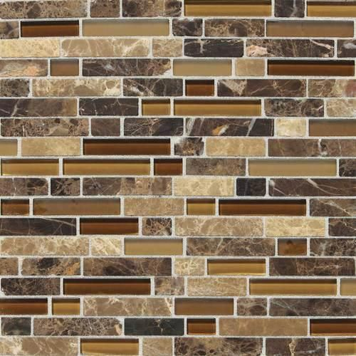 Mohawk Stone Radiance Stone And Glass Mosaic Wall Tile 5 8 Random At Menards Backsplash