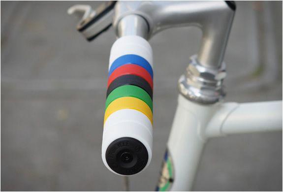 PURPLE *MADE IN USA* AME MTB mountain bike Tri Star flangeless bicycle grips