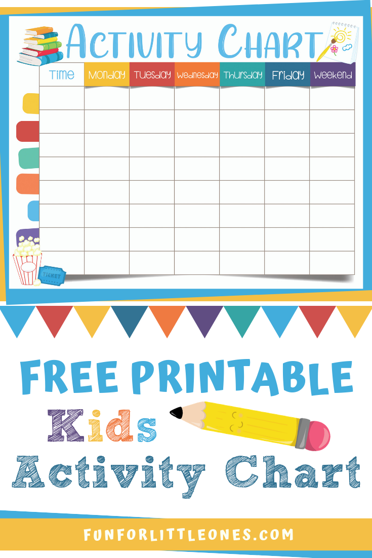 Kids Activity Chart (Free Printable) | KBN Crafts for Kids ...